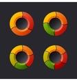 Circular Chart Template Set vector image vector image