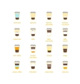 Coffee To Go Drinks Recipe Set vector image vector image