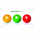 colorful chrismas beads vector image vector image