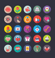 colourful flat icons set love and valentine vector image vector image