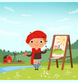 creative childrens little artist making pictures vector image vector image