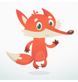 cute cartoon fox character wild forest animal vector image vector image