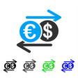dollar euro exchange flat icon vector image vector image