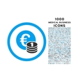 Euro Coins Rounded Icon with 1000 Bonus Icons vector image vector image