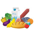 everyday goods and food products vector image vector image