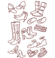 female footwear vector image vector image