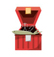 fisherman box isolated vector image vector image