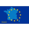 Flag of European Union with France on background vector image vector image