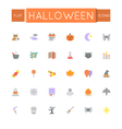 Flat Halloween Icons vector image