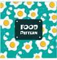 food pattern fried egg background image vector image