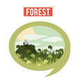 Forest design vector image vector image
