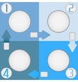 Four color squares vector image vector image
