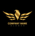 gold eagle logo vector image vector image