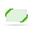 green gift card with dashed ribbon vector image vector image