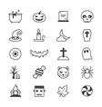 Halloween Party Icons Line vector image vector image