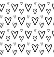 Hand Drawn Heart Pattern vector image