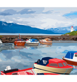 Harbour with boats vector image vector image