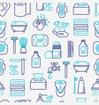 hygiene concept seamless pattern vector image
