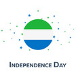 independence day of sierra leone patriotic banner vector image