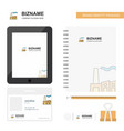 industry business logo tab app diary pvc employee vector image vector image