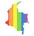 lgbt spectrum pixel colombia map vector image