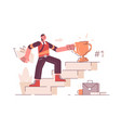 man on career ladder vector image