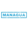 Managua Rubber Stamp vector image vector image