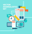 mass media broadcasting news set vector image vector image