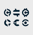 modern professional set currency icons in vector image