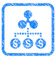 money ripple relations framed stamp vector image vector image