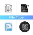 mp3 audio file icon vector image vector image