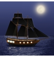 Night Sea Background vector image vector image
