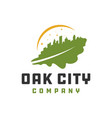 oak leaf city logo vector image vector image