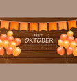 october fest welcome poster realistic vector image vector image