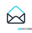 open envelope icon vector image vector image