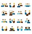 Partnership Flat Icons Set vector image vector image