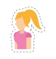 people casual woman icon image vector image