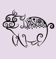Pig ornament vector image vector image