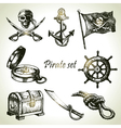 Pirates set hand drawn vector | Price: 3 Credits (USD $3)
