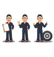 professional auto mechanic in uniform vector image vector image