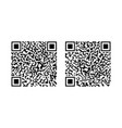 qr code icons qrcode for scan barcode product vector image vector image