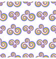 seamlass rainbow psychedelic swirl pattern vector image vector image