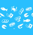 seamless background from seafood vector image