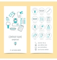 Set of flyer brochure for dental clinic Dental vector image vector image