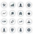 set of simple entrepreneurship vector image vector image