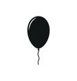 simple black icon one balloon on white vector image