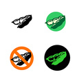 Soy bean icon with variations Black green and red vector image