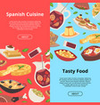 spanish food pattern traditional european vector image vector image