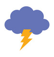 storm cloud thunderbolt weather design icon vector image
