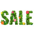 summer sale poster and grass and flowers white vector image